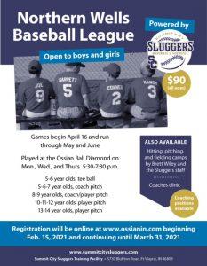 Northern Wells Baseball League Info